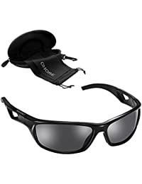Gafas de Sol Deportivo Unisexo de OMorc , Gafas Polarizadas ideal para Ciclismo, Conducción, Golf, Esquí, Correr, Viajes, Ocio y Actividades Al Aire Libre General