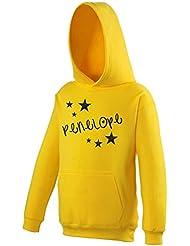 Girls Personalised Glitter Star Hoodie