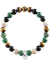 Thomas Sabo–Bracelet pour Charms Marron, Vert, Blanc x0217–947–7