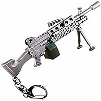 LLAMEVOL Llavero de Pistola para Hombre Fort-Nite Scar Guns Toys Heavy Shotgun Modelo Aleación Metal Assault Rifle Llavero Juego Fiesta Suministros Colección Regalo para Niños
