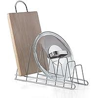 Metaltex Cricket - Soporte 6 tapaderas, banderas o tablas, color gris