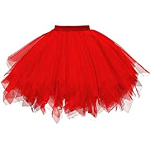 QinMM Faldas Tul Mujer Enaguas Cortas Tutus Ballet Mini Para Vestidos