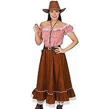 Elbenwald Costume de Cowgirl Femmes 2 Pièces Costume Western Blouse de  Fille Cowboy, Jupe 11f7e43d01bd