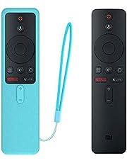 Oboe Xiaomi MI TV Remote Silicone Protective Case Shockproof Skin-Friendly Washable Cover Compatible for Xiaomi TV Remote Netflix/Amazon Model 4X (65,55,50,43 inch) / 4A (40 inch) (Glow in Dark Blue)