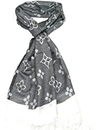 Lovarzi Damen Schal - Wunderschönes Geblümtes Schal für Frauen und Mädchen – Modetücher