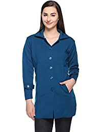 Montrex Women Blue Stylish Coats