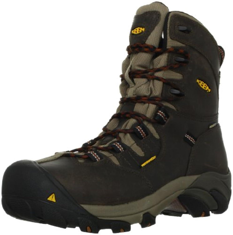 Keen Utility Men's Detroit 8 Steel Toe Work Boot Black Olive/Brindle 10 D US