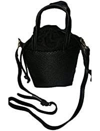 Just Bag Women's Leather BLACK Leather Hand Bag (jb-2)