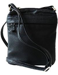 BAHOK PURE LEATHER LADIES SHOULDER BAG IN BLACK (B-50)