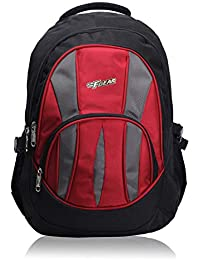 F Gear Adios Polyester 31 Liters Black Red School Bag