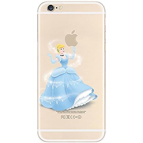 Nueva princesas Disney TPU transparente suave para Apple Iphone 4/4S 5/5S 5C 6/6S y 6+/6+ S * Comprobar oferta especial *, plástico, Cinderella 1, Apple iPhone