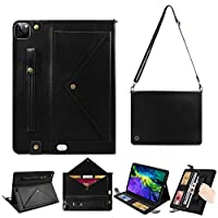 2020 iPad Pro 11 Inch Case,APOLL Handbag Design PU Leather Stand Smart Cover for New iPad Pro 11 Inch 2nd Generation 2020 with Hand Strap Pencil Holder Document Card Pocket Auto Wake/Sleep, A-Black