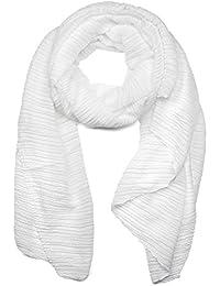 styleBREAKER gekreppter unifarbener Schal, Crash and Crinkle, Tuch, Damen 01016107