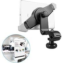 EC Technology Soporte Ajustable 360°para automóvil para Apple iPad Air / iPad 4 / iPad 2 / iPad Mini2 / iPad Mini y demás Tablets - Soporte para Apoyacabezas de Asiento Trasero para PCs y Tablets - Negro