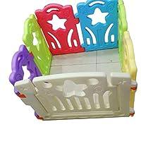 سياج حماية للأطفال - بتصميم رائع Baby care playpen -Baby Play Fence Kids Activity Centre Safety Play Yard Home Indoor-Outdoor Baby Fence (Size: 80 * 80cm) foldable