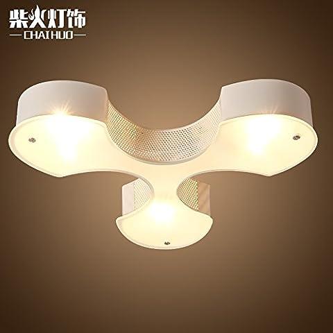 Lo studio creativo di luce da soffitto in stile minimalista moderno camera da letto Ristorante luce a soffitto balcone Corridoio 3 foglie di luce a soffitto