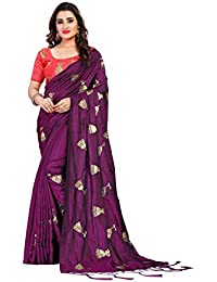 ecfdc2145c2906 AnK Women Silk Embroidered Saree With Blouse Piece