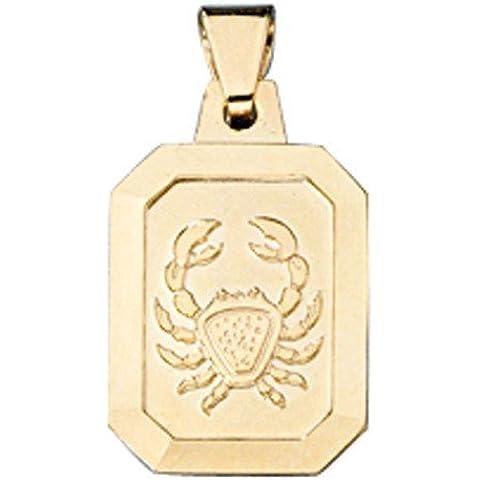 Oro ciondolo 333segno zodiacale cancro–Collana unisex