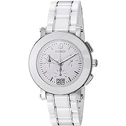 Fendi F662140 - Reloj de pulsera Mujer, Cerámica, color Blanco