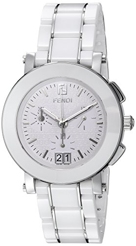 Fendi Women's 38mm White Ceramic Band Steel Case Anti Reflective Sapphire Swiss Quartz Watch F662140