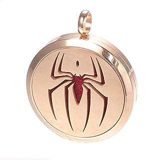 Spider Sense Aromatherapy Necklace, Spiderman Rose Gold Locket Pendant, Chenier Gift Jewelry