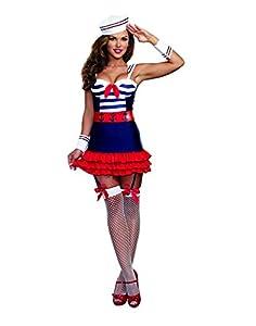 DreamGirl-Disfraz de marinero 9861Delight (tamaño mediano)