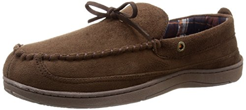 Dockers Mens Moccasin Classic Slippers Brown