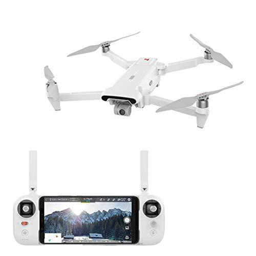 QHJ Drone für Xiaomi FIMI X8 SE Drone 5KM FPV 3-axis Gimbal 4K Camera GPS Quadcopter 33mins RC Drohne Quadcopter RTF, DIY Stützte Sich, Schwacher Batterieschutz Internationale Version (Weiß)
