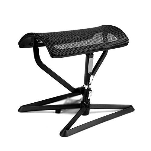 NSC Reposapiés Ajustable Pedal Reposapiés Almuerzo Descanso Auxiliar Taburete Yoga Descanso Plegable Transpirable Malla,Black