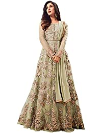 Viha Heavy Net Embroidered Semi-stitched Anarkali Salwar Suit