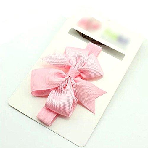 Fashion Bowknot design bandeau accessoire de cheveux mignon pour bébé fille(Pink)