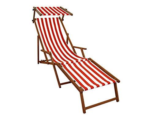 Sedie A Sdraio Da Mare.Sdraio Da Giardino Bianco Rosso Da Spiaggia Poltrona Relax