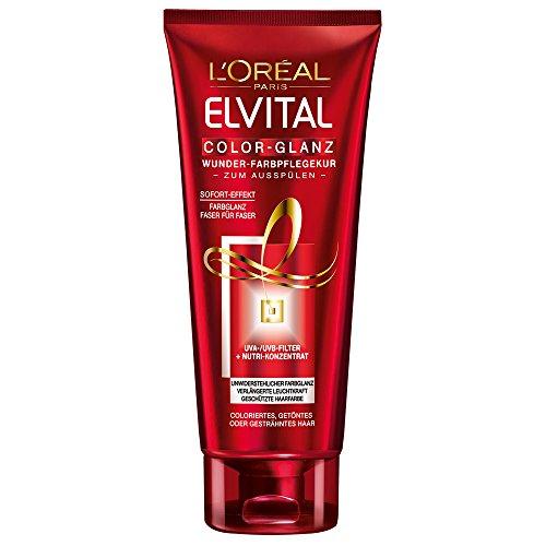 L'Oréal Paris Elvital Color-Glanz Wunder-Farbglanzkur, 2er Pack (2 x 200 ml)
