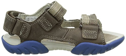 Clarks Kids Mirlo Air Inf, Sandales ouvertes garçon Marron (Brown Combi Lea)