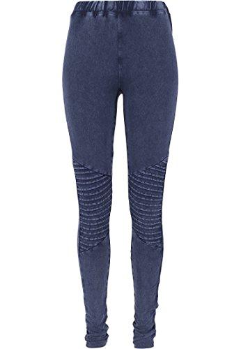 Urban Classics - Leggings Denim Jersey, Calzamaglia sportiva Donna, Blu (Indigo), Large (Taglia Produttore: Large)