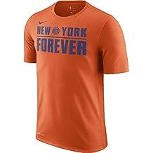 Nike NBA New York Knicks Kristaps Porzingis 2017 2018 Dry Verbiage Official, Camiseta de Hombre