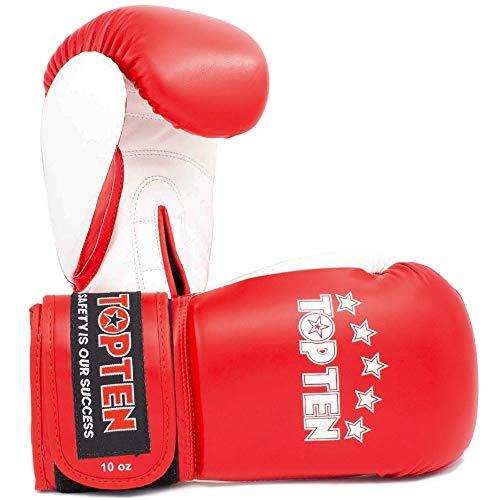TOP Ten Boxhandschuhe, NK-II, rot Größe 10 Oz