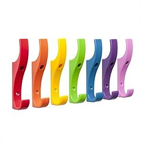 Toughook unzerbrechliche Sicherheits-Kleiderhaken aus Kunststoff, 10 Stück, plastik, multi, Large