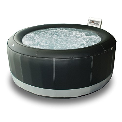 Happy Garden Spa gonflable rond simili-cuir SUPER CAMARO - 6 places - noir