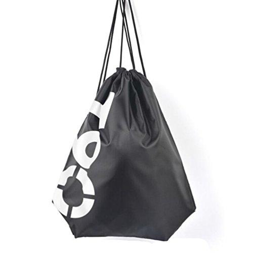 Imagen de deporte saco bolsa cordón  impermeable bolsa natación viaje escuela  para niñas niños adultos, black t90