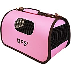 BPS (R) Portador Transportín Bolsa Bolso de tela Rosa para Mascotas (Tamaño L)
