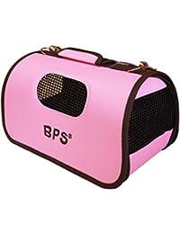 BPS (R) Portador Transportín Bolsa Bolso de tela Rosa para Mascotas