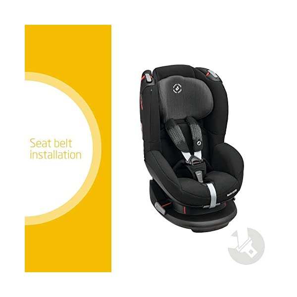 Maxi-Cosi Tobi Toddler Car Seat Group 1, Forward-facing Reclining Car Seat, 9 Months-4 Years, 9-18 kg, Frequency Black Maxi-Cosi Forward facing group 1 car seat suitable for children from 9 to 18 kg (approx. 9 months to 4 years) Install with a 3-point car seat belt, with clear and intuitive seat belt routing High seating position allows toddler to watch outside the window 2