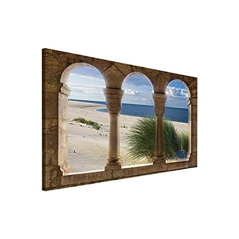Delester Design PP263O1 Fenêtre sur Mer Tableau 100 x 75 x 75 (Mare Su Tela)
