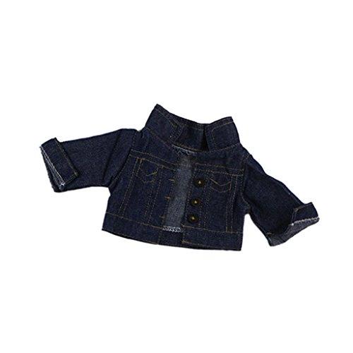 MagiDeal Puppe Mantel - Jeans Jacke - Puppen Kleidung Für 18 '' American Girl Puppe (Kleidung Up Baby-dress)