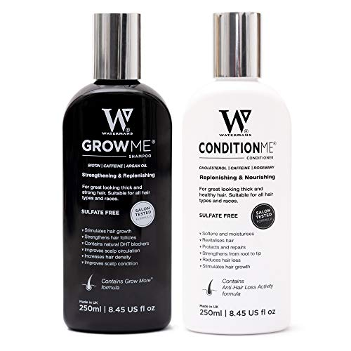 Hair Growth Shampoo and Conditioner by Watermans - Combo Pack - Best Amazon Hair Loss Products for Men and Women