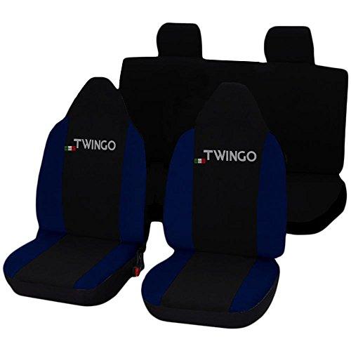 Lupex Shop Twingo_N.Bs Coprisedili, Nero/Blu Scuro