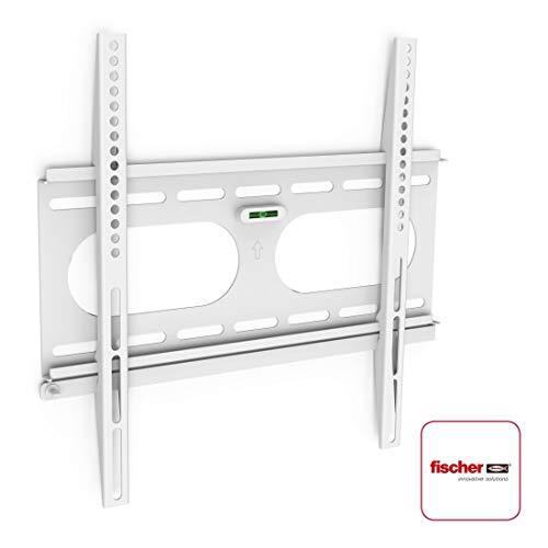 Hama TV-Wandhalterung Ultraslim (für Fernseher von 32 bis 56 Zoll (81 cm bis 142 cm Bildschirmdiagonale), inkl. Fischer Dübel, VESA bis 400 x 400, Wandabstand nur 2,5 cm, max. 50 kg) weiß (Flachbild-monitor-halterung)