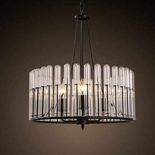 BBSLT American camera da letto soggiorno lampadario Nordic vetro da pranzo tavola rotonda bar negozio di abbigliamento testa singola lampada 525*575mm , bianco caldo