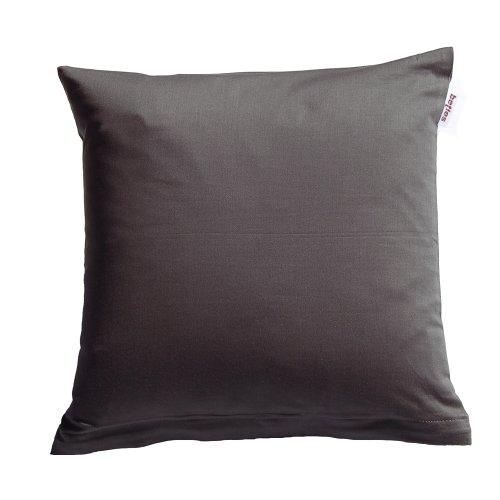 Beties Oreiller Satin Coton Mako Uni couleurs anthracite dans 4 tailles Intéressant 100% coton, 100 % coton, anthracite, 80 cm x 80 cm